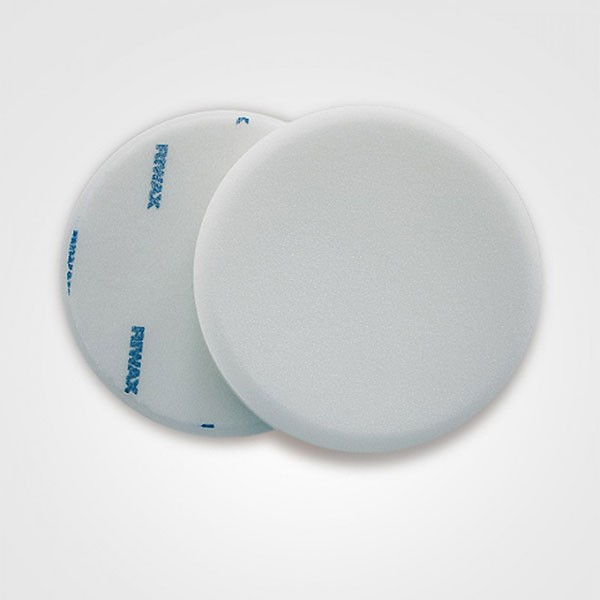 Riwax® Buffing Pad, White, Medium, Single Sided, Velcro, 175x30MM, 11571-M